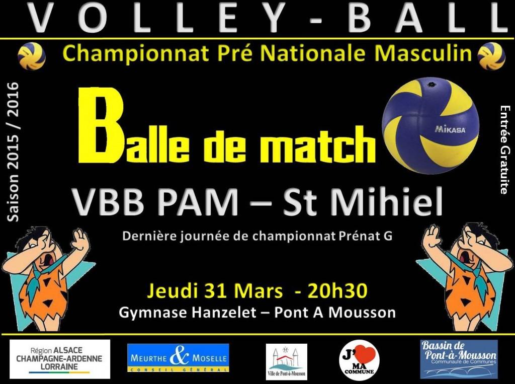 VBB PAM vs Saint Mihel